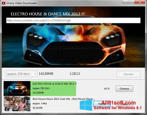 Zrzut ekranu Ummy Video Downloader na Windows 8.1