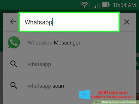 Zrzut ekranu WhatsApp na Windows 8.1