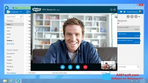Zrzut ekranu Skype na Windows 8.1