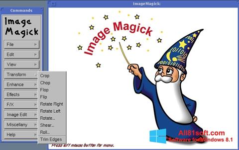 Zrzut ekranu ImageMagick na Windows 8.1